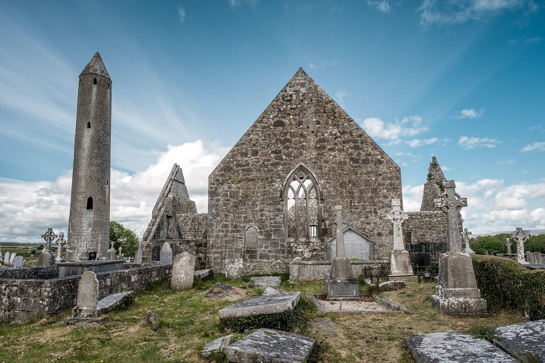 Kilmacduagh Monastery, Nr Gort, County Galway, Ireland