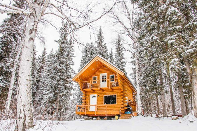 Beautiful Log Cabin in Alaska, USA