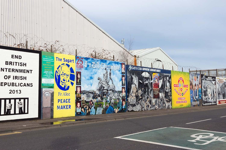Political mural in Belfast, Northern Ireland.