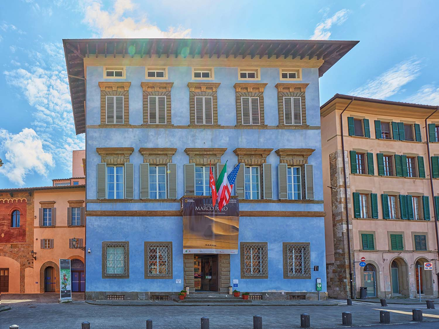 Palazzo Blu is a center for temporary exhibitions and cultural activities in Pisa Italy