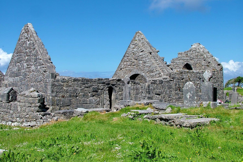 Historical site of Seven Churches, Inishmore. Aran Island. Ireland